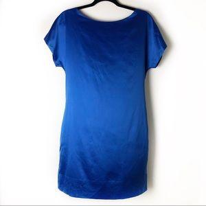 Banana Republic Factory Royal Blue Silky Dress